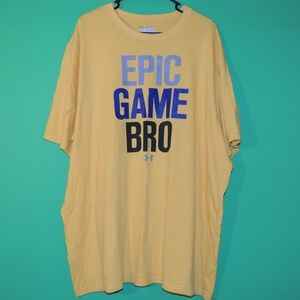 Under Armour Mens 4XL Yellow Epic Game Bro T Shirt